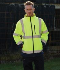 WD528 Dickies Hi-Vis Two-Tone Soft Shell Jacket